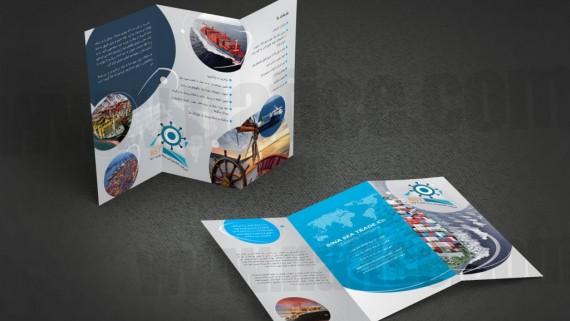 طراحی و چاپ بروشور شرکت نمک اصیل -  -