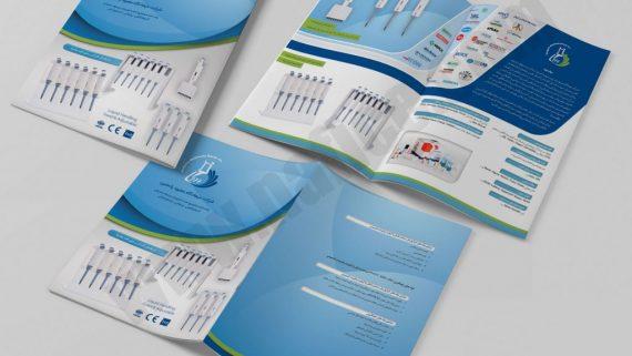 طراحی بروشور شرکت کشتیرانی بینا تجارت دریا 2 -  -
