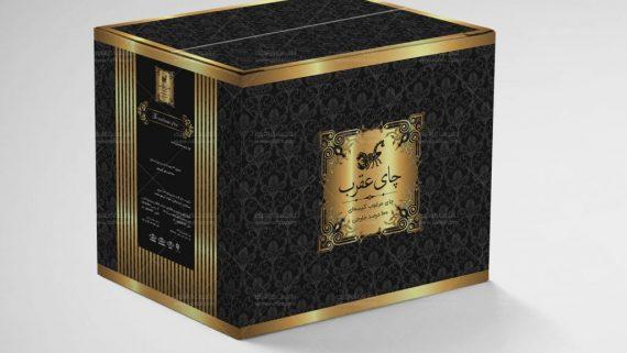 طراحی بسته بندی سلفون چای عقرب -  -