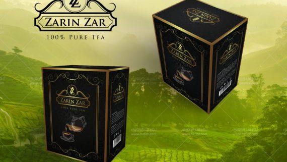 طراحی جعبه چای و بسته بندی مقوایی چای دلیجان -  -
