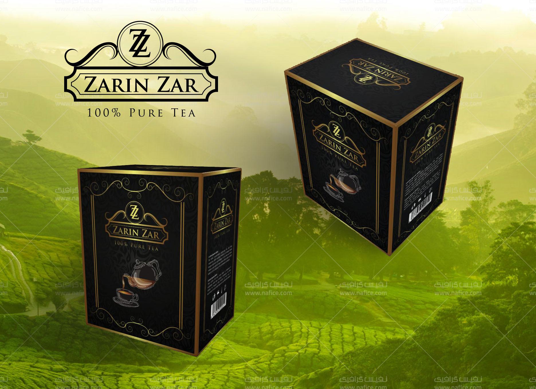 طراحی جعبه مقوایی چای -  -