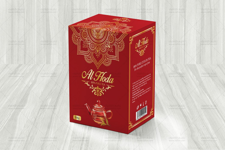 چاپ و طراحی جعبه مقوایی چای الهدی -  -