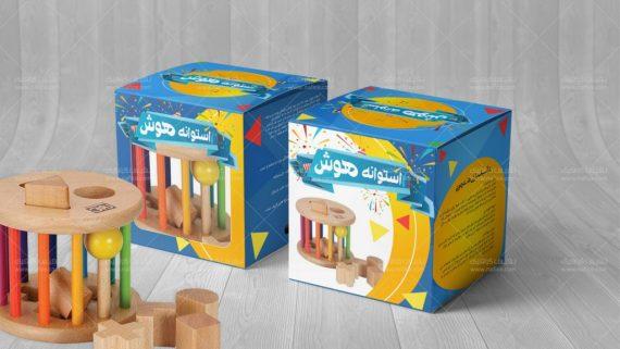 طراحی جعبه مقوایی اسباب بازی کودک -  -