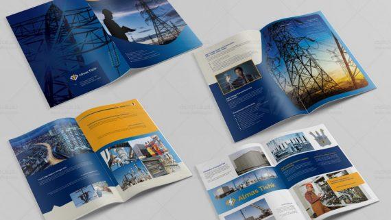 چاپ و طراحی کاتالوگ شرکت تاسیساتی سوپر فیت - -