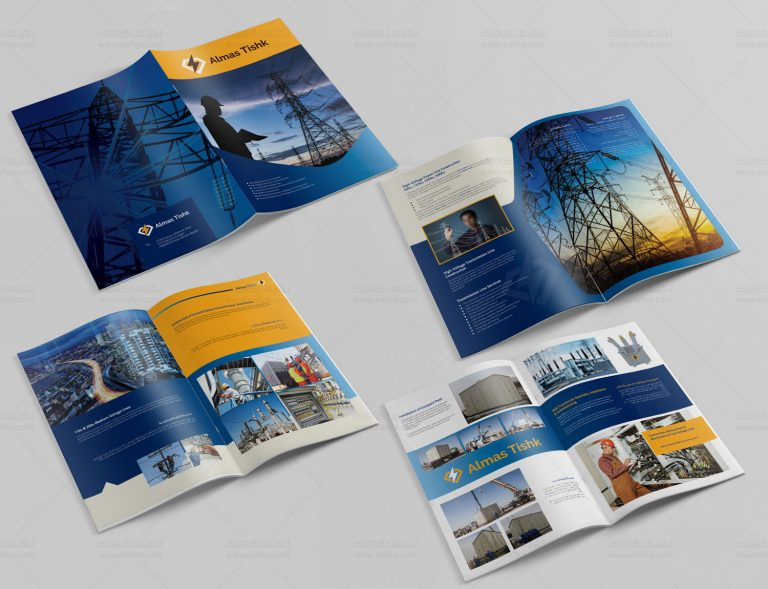 چاپ و طراحی کاتالوگ مهندسی شرکت الماس تیشک - -