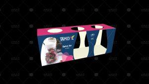طراحی و چاپ برگه بسته بندی نمکدان تاپکو